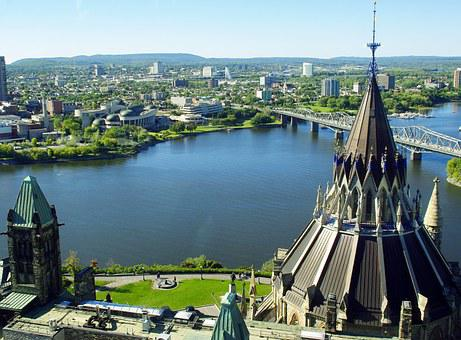 Canada, Ottawa, Ottaoutais River, Parliament
