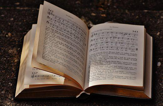 Book, Hymnal, Church, Pitched, Book Pages, Paper