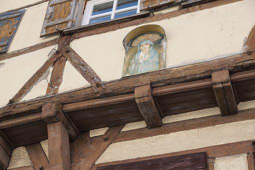 Quantities, Fachwerkhaus, Road, Old, Facade