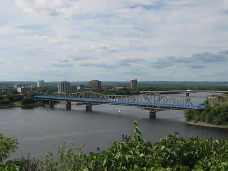 Bridge, Alexandra Bridge, Ottawa, River, Ontario