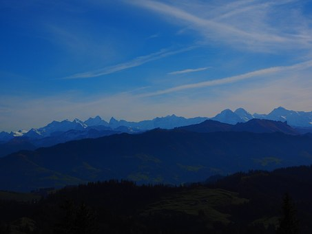 Alpine, Alpine Panorama, Whelk, Rosenhorn, Mittelhorn
