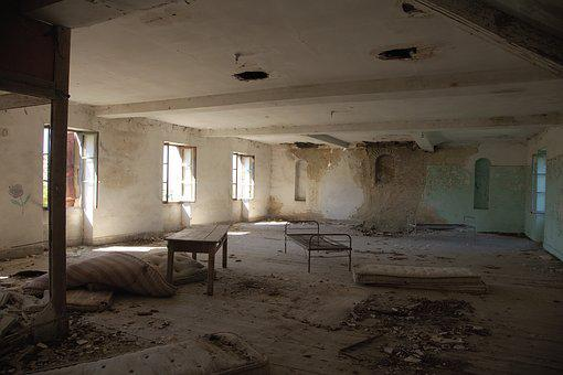 Ruin, Dormitory, Leave, Dirty, Old, Destroyed, Run Down