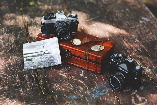 Old, Vintage, Camera, Cameras, Canon, Zenit, Russian