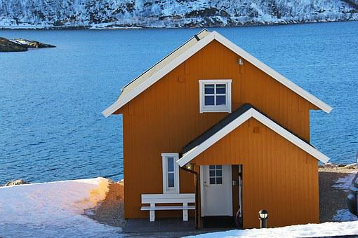 Fishermen Cabin, Cabin, Landscape, Beautiful, Sky, Sea