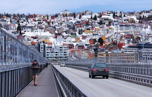 Tromso Bridge, Breathtaking, Scenic, Amazing, Snow