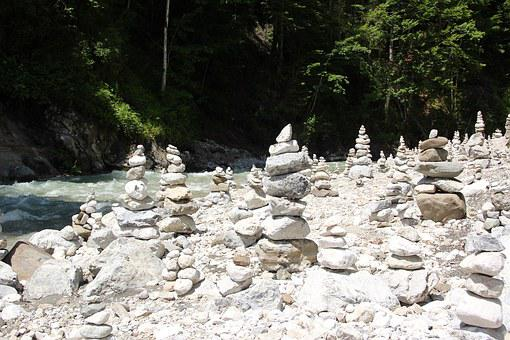 Stone Forest, Cairn, Stacked, Stones, Tower