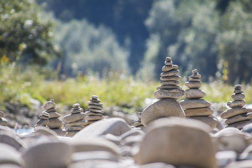 Stone Sculpture, Cairn, Water, Nature, Sculpture, Coast