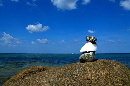 Stone Tower, Sea, Stones, Beach, Meditation, Tower