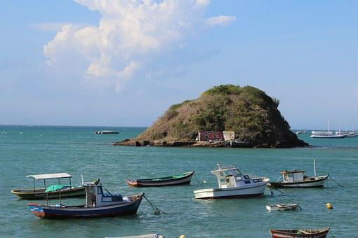 Beach, Búzios, Rio De Janeiro, Mar, Summer, Boats