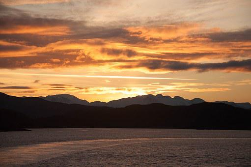 Norway, Arctic, Clouds, Sunset, Scenery, Landscape
