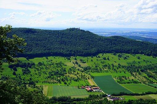 Burg Teck, Teck, Burgruine Teck, Swabian Alb, View