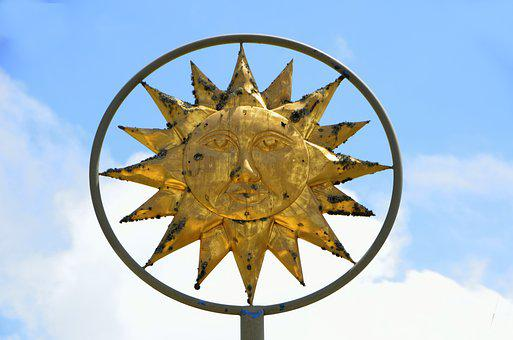 Sun God, Symbol, Sign, Rays, Sun, God, Worship