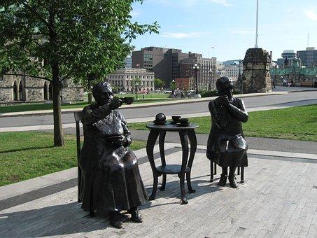 Statue, Ottawa, The Famous Five, Parliament Hill