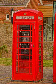 Telephone, Booth, Red, Kingdom, Box, Iconic, Uk
