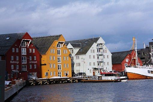 Norwegian House, House, Unique, Arctic, Beautiful, Sky