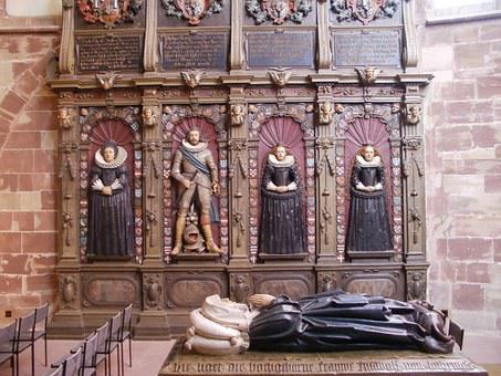 Stiftskirche, St Arnual, Wall, Monuments, Interior