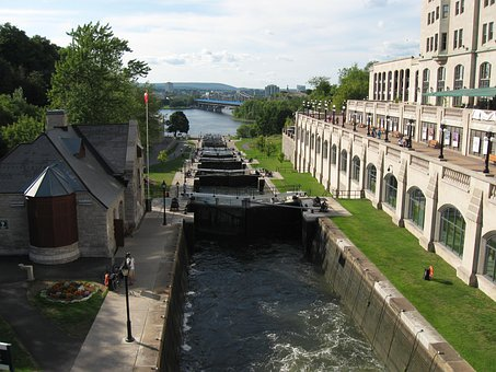 Rideau Canal, Ottawa, Locks, Waterway, Channel, Outdoor