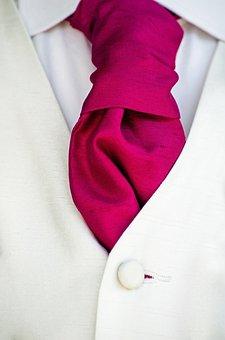 Tie, Groom, Corsage, Ceremony, Pinned, Silk, Wedding