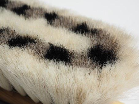 Brush, Goat Hair, Pattern, Black, White