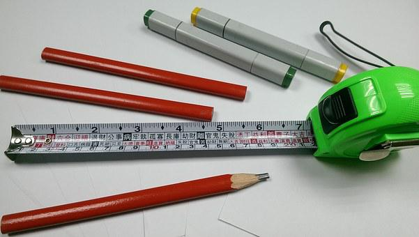 Tape, Meter, White, Steel, Inch, Ruler, Yellow, Black