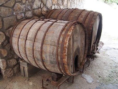 Barrels, Old, Wine, Wood, Wooden, Storage