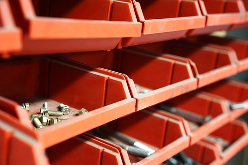Bolts, Shelf, Storage, Screws, Nuts, Workshop, Garage