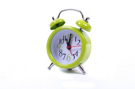 Clock, Alarm, Watch, Green, Time, Sleep, Hour, Isolated