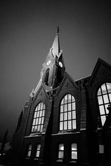 Church, Steeple, Church Window, B W Photo, Finnish