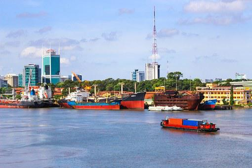 Bason, Vietnam, Saigon, Ships, Boat, Asia, Water