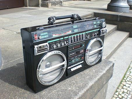 Ghettoblaster, Boombox, Old School, Radio Recorder