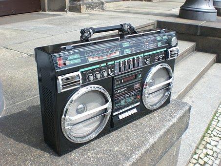 Ghettoblaster, Boombox, Old School, Radio Recorder