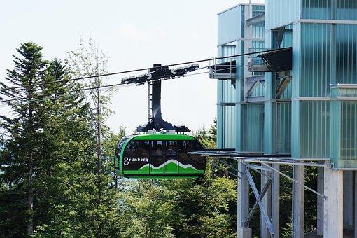 Cable Car, Gondola, Grünberg, Gmunden, Salzkammergut