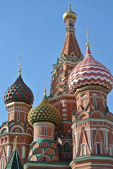 St Basil, Cathedral, Moscow, Red, Square, Russia