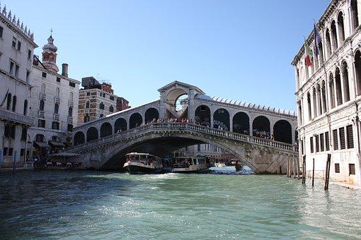 Rialto, Venice, Channel, Italy, Great Channel