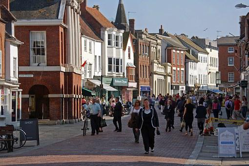 Chichester, Cityscape, West Sussex, North Street