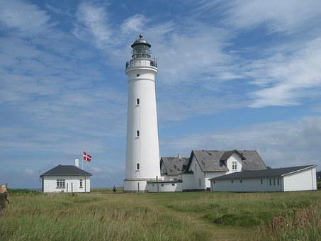 Lighthouse In Hirtshals, Denmark, Danish, Lighthouse