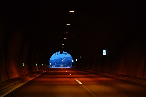 Tunnel, Light, Light At The End Of The Tunnel, Dark