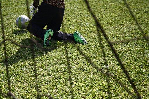 Porter, Shortcut, Football, Jump, Air, Day, Game, Gol