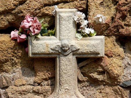 Cruz, Cemetery, Child, Dead Child, Angel, Cherub