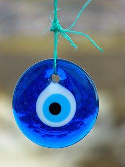 Nazar, Black Eye, Amulet, Glass, Eye Of Fatima