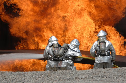Fire, Delete Exercise, Fire Fighting, Feuerloeschuebung