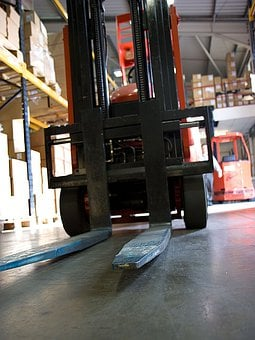 Forklift, Fork, Forks, Warehouse, Retail, Hall, Boxes