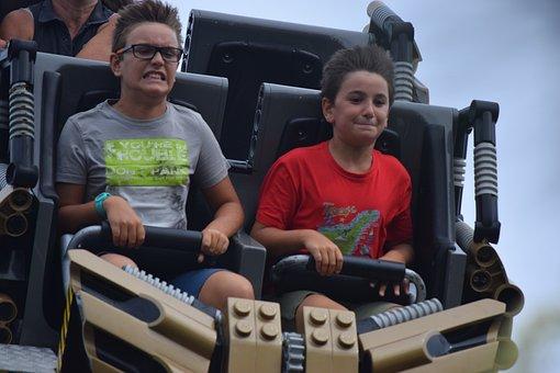 Fun, Roller Coaster, Legoland, Denmark, Billund, Speed