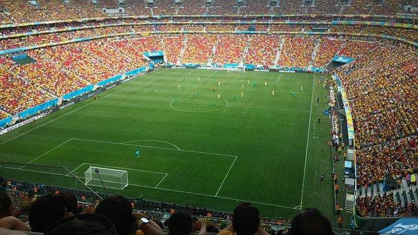 Stadium, Football, Field, Lawn, Game, Crown