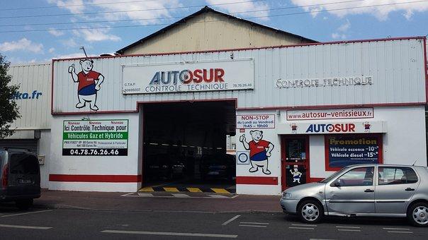 Garage, Automobile, Technical Control, Auto Center