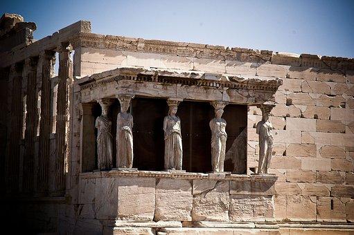 Caryatids, Greece, Acropolis, Athens, Greek, Ancient