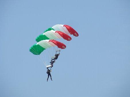 Parachute, Acrobatics, Hungarian Flag, Airport