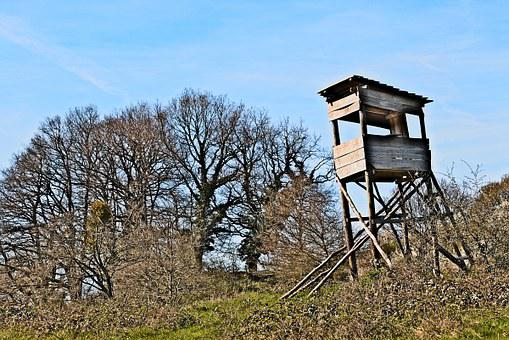 Lookout, Hunting, Game, Tower, Hunters, Watch, Mirador