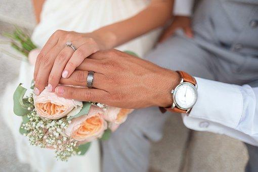Bride, Couple, Groom, Hands, Holding Hands, Love, Man
