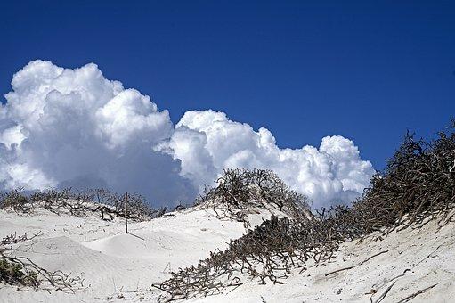 Clouds, Air, Blue Sky, Nature, Dunes, Sandy Bonaire